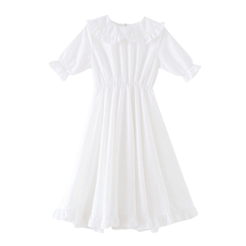 Vanilla Bloom Mori Girl Peter Pan Collar Dress
