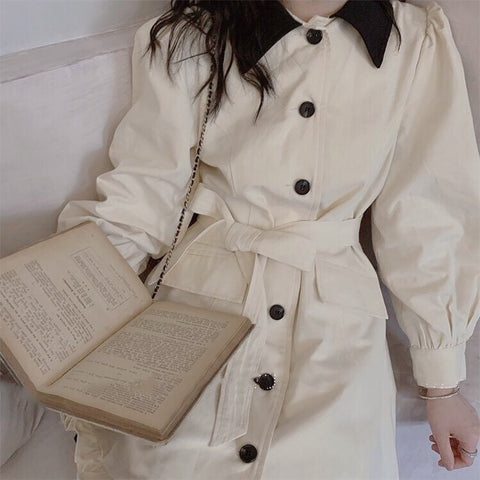 Rainy Pond Vintage-Style Lightweight Dinner Coat-Dress