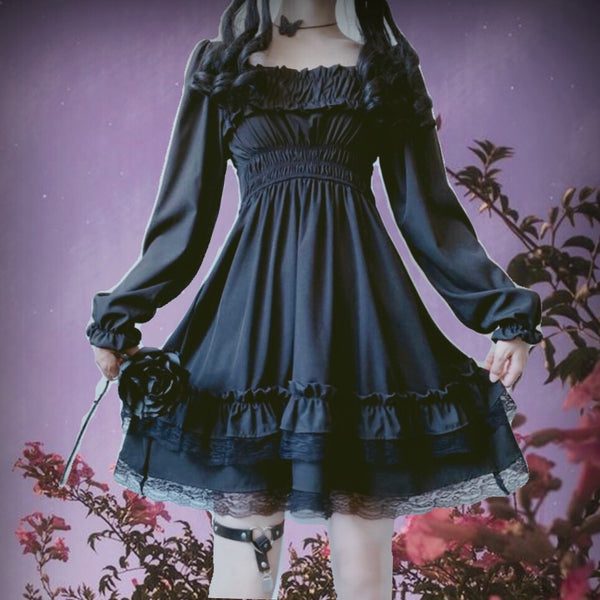 Vampire Tears Gothic Princess Dark Lolita Mini Dress