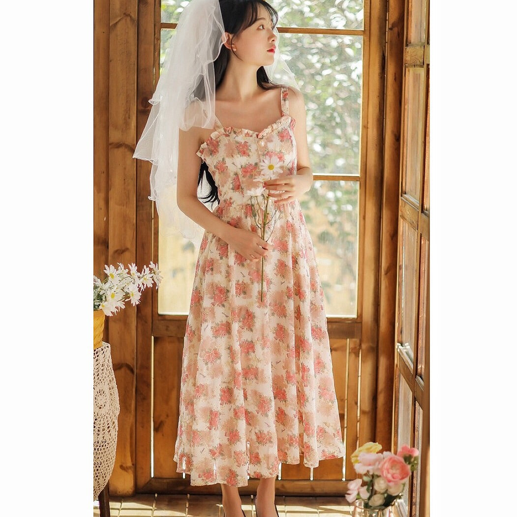 Rose Garden Vintage-Blooms Cottagecore Spring Cottage Dress