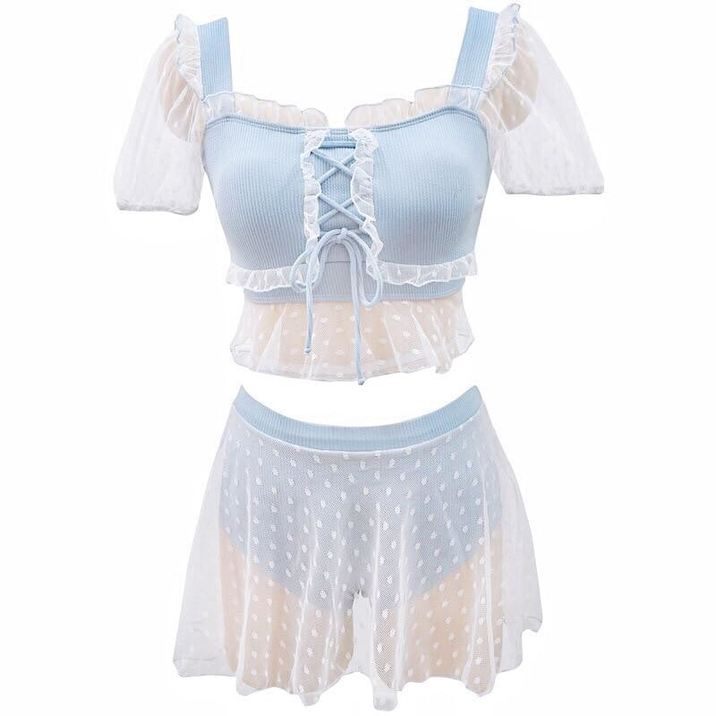 Lori Diamondfrost 2-piece Ruffle Kawaii Lolita Swimsuit