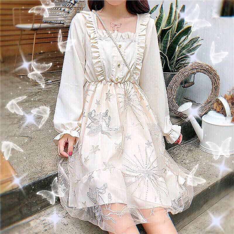 Moonshine Pegasus Embroidered Fairy Lolita Dress