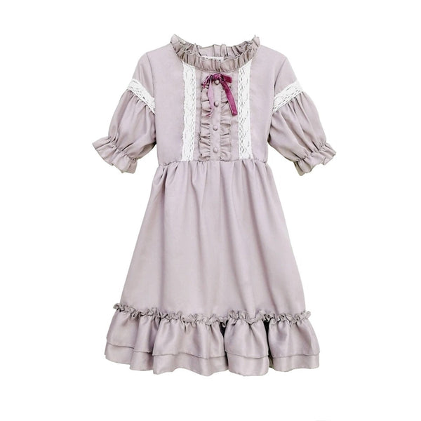 Lavender Moon Rosy Mauve Kawaii Lolita Dress