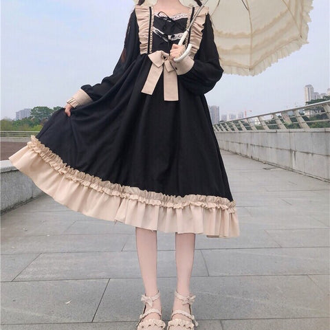 Dark Lolita Princess Kawaii Ruffle Dress