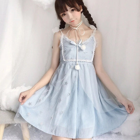 Crystal Fairy Lace Fairy-kei Dress