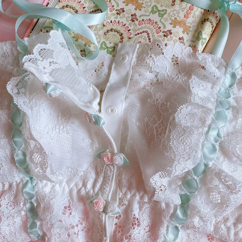 2-piece Lace Kawaii Princess Nymphet Lolita Lingerie Set
