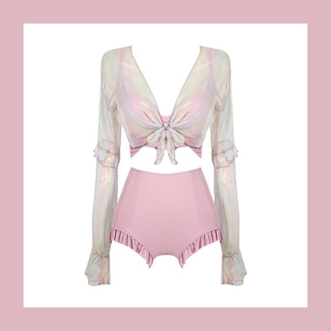 3-Piece Pastel Kawaii Aesthetic Swimsuit