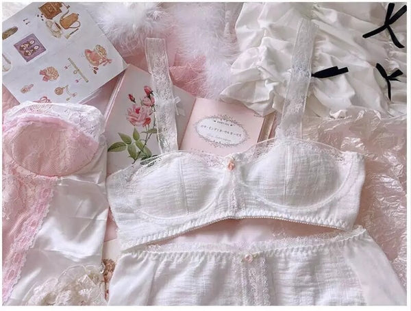Lace Vintage-Style Kawaii Princess Nymphet Lolita Lingerie Set