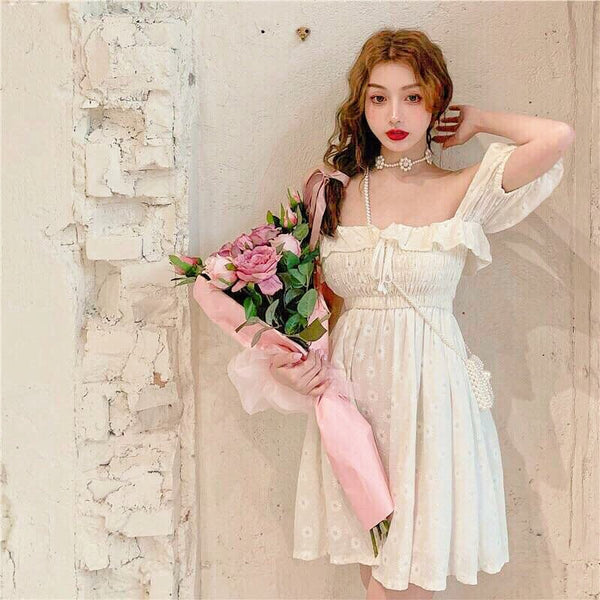 Wonder Lily Kawaii Princess Sweet Off-the-shoulder Mini dress