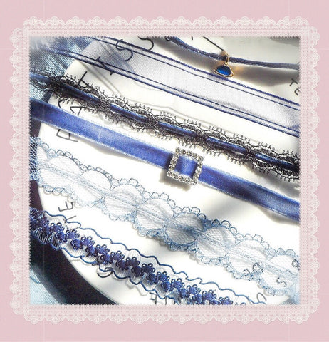 {FREE with Purchase of $25+} Dark Blue Lolita Choker