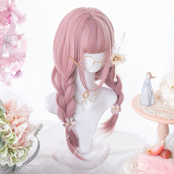 Strawberry Moon Long Straight Lolita Wig