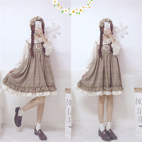 Twiggy Plaid Lolita Dress
