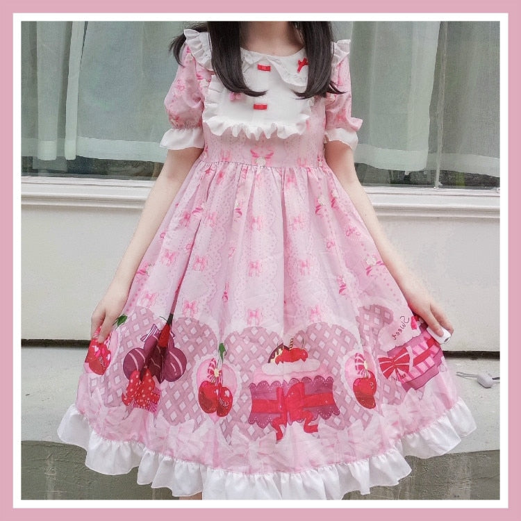 Cherry Cake Kawaii Japanese Lolita Dress
