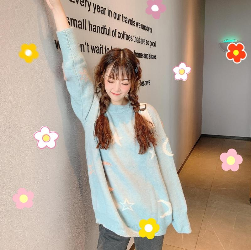 Kawaii Moon Sweater