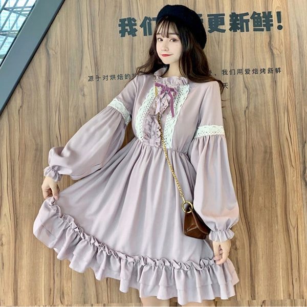 Lavender Moon Long Sleeve Lolita Dress