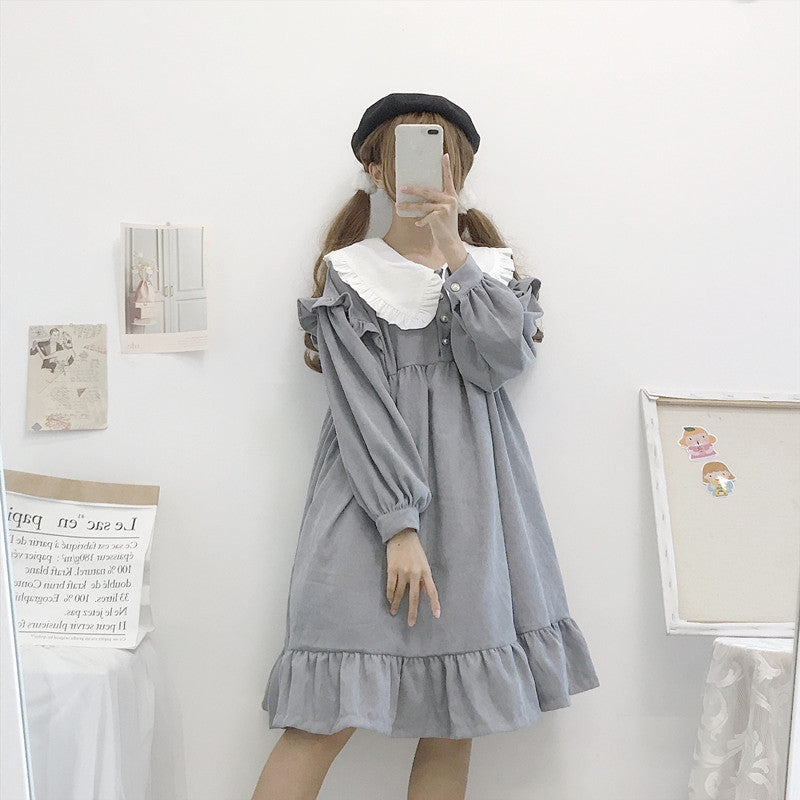 Amber Greybelle Winter Corduroy Lolita Dress