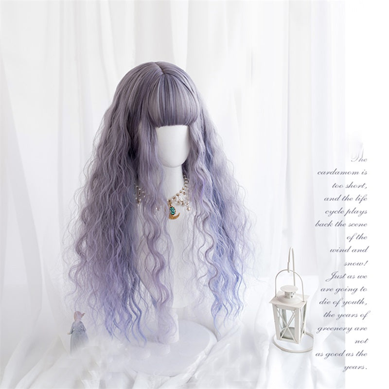Purple Rain Ombre Curly Cosplay Lolita Wig