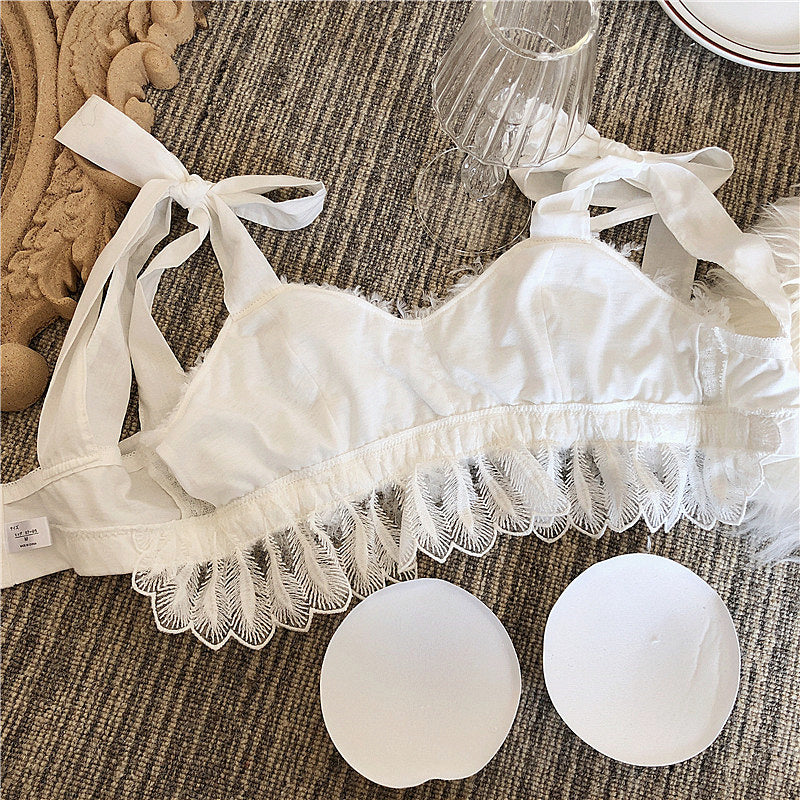White Swan Angel Feather 2-piece Lolita Nymphet Lingerie Set