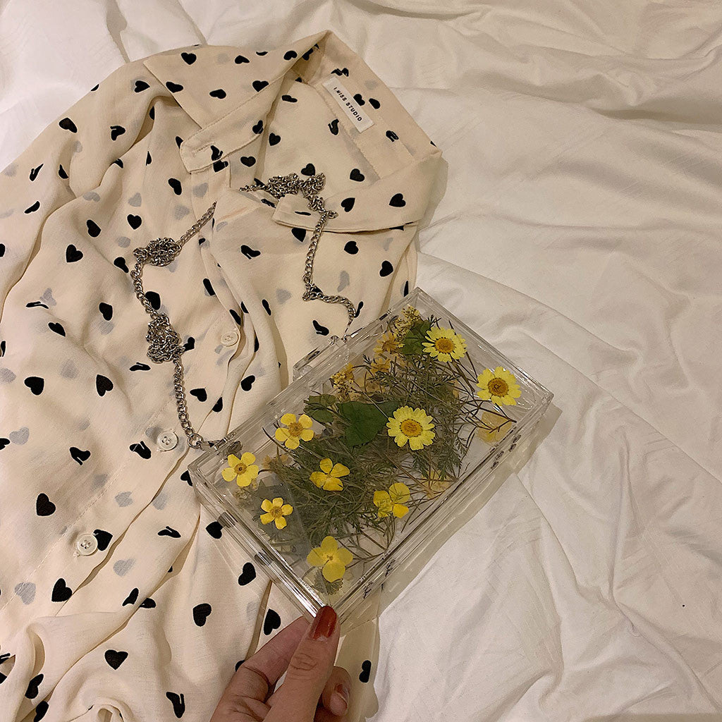 Happy Daisy Aesthetic Acrylic Clutch Bag