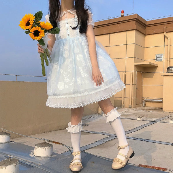 Skyee Kawaii Princess Lace Lolita Dress