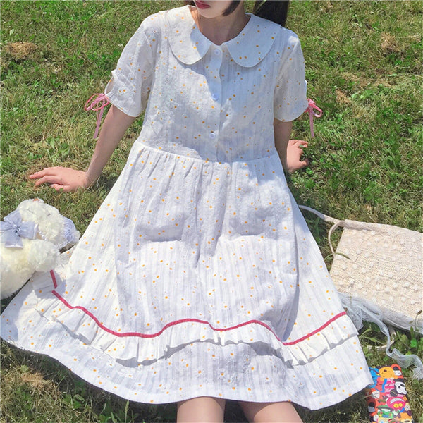 Elma Daisy Print Kawaii Lolita Dolly Dress