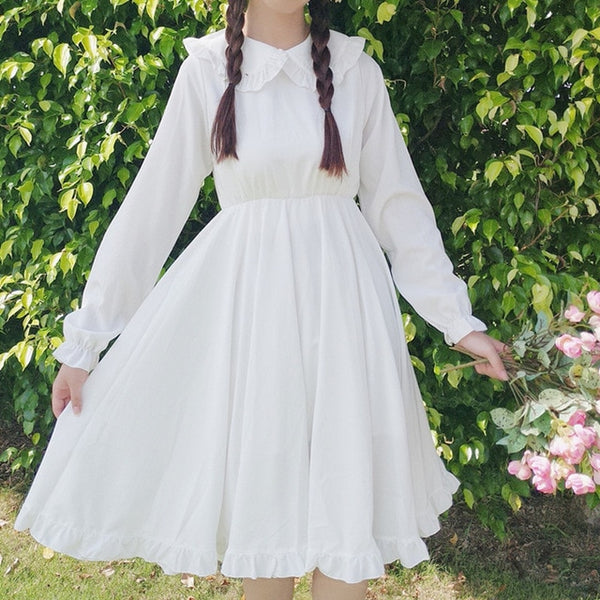 Layla White Vintage-Style Tea Party Dolly Dress