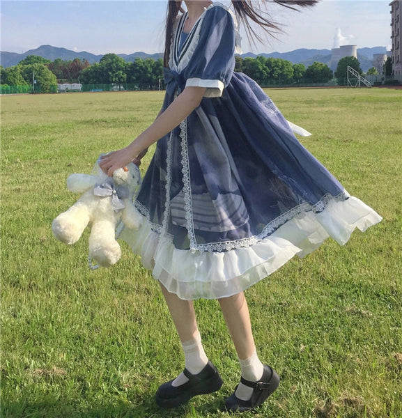 Short Sleeve Kawaii Lolita Style Dress