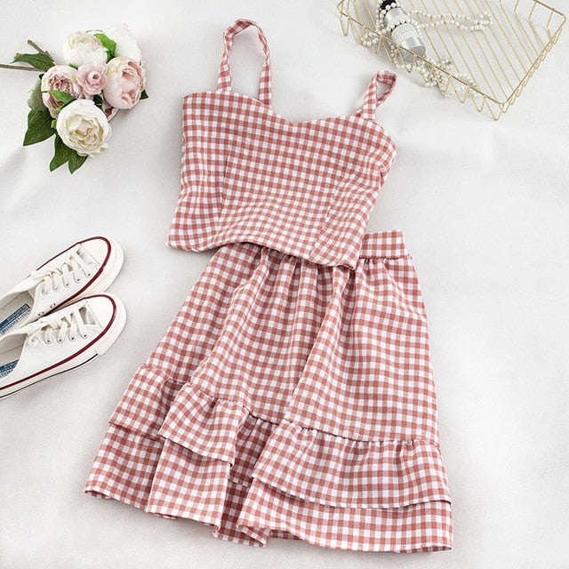 Plaid 2-piece Gingham Nymphet Set