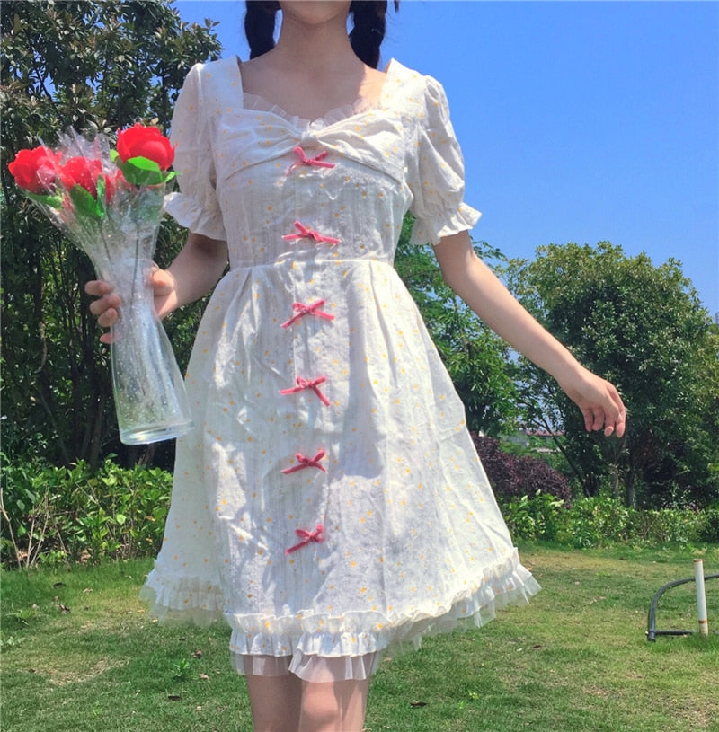 Daisy Kawaii Princess Short Sleeve Summer Dolly Dress