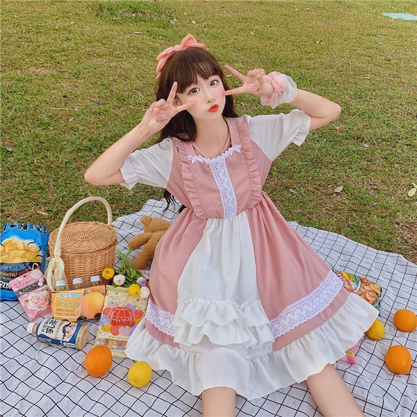 Kawaii Princess Short Sleeve Tea Party Lolita Dress