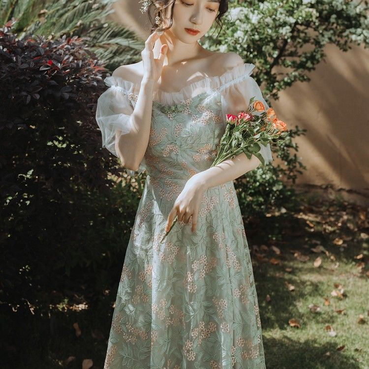 Tessa Fae Embroidered Forest Fairy Dress