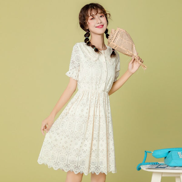 Gerbera Casual Lace Hollow Out Summer Dress