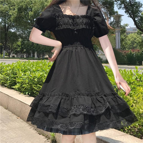 Dark Lolita Black Lace Gothic Lolita Dress