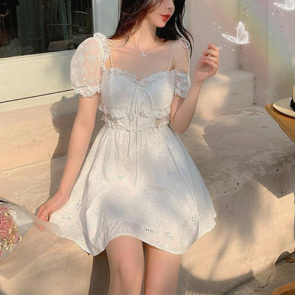 Opal Lace Summer Nymphet Fairy Dress