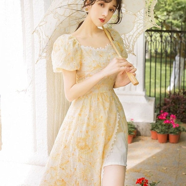 Leeta Embroidered Romantic Vintage-Princess Summer Dress