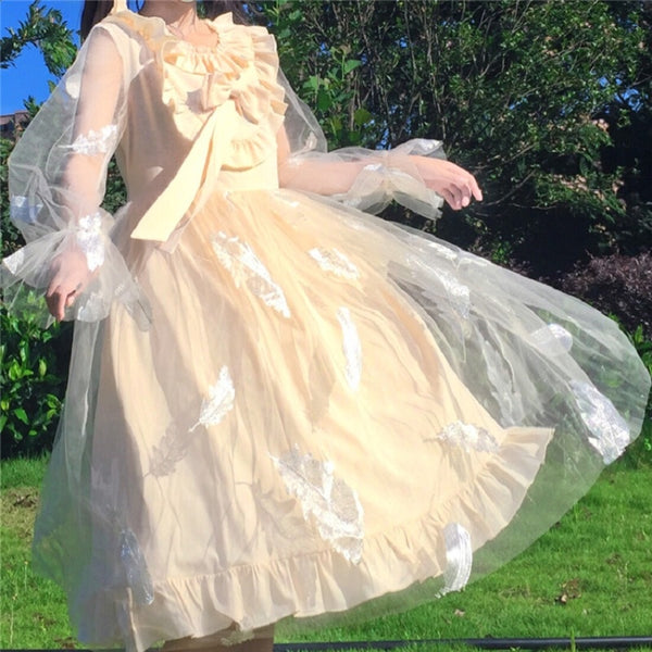 Jeanie Featherweb Japanese Lolita Fairy Kawaii Princess Lolita Dress