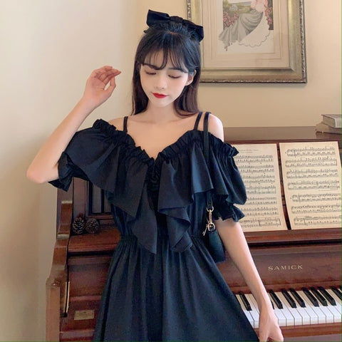 Camille Off-Shoulder Ruffle Fairy Summer Dress