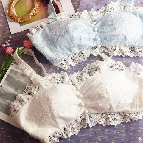 2-piece Cotton Lace Kawaii Princess Nymphet Lolita Lingerie Set