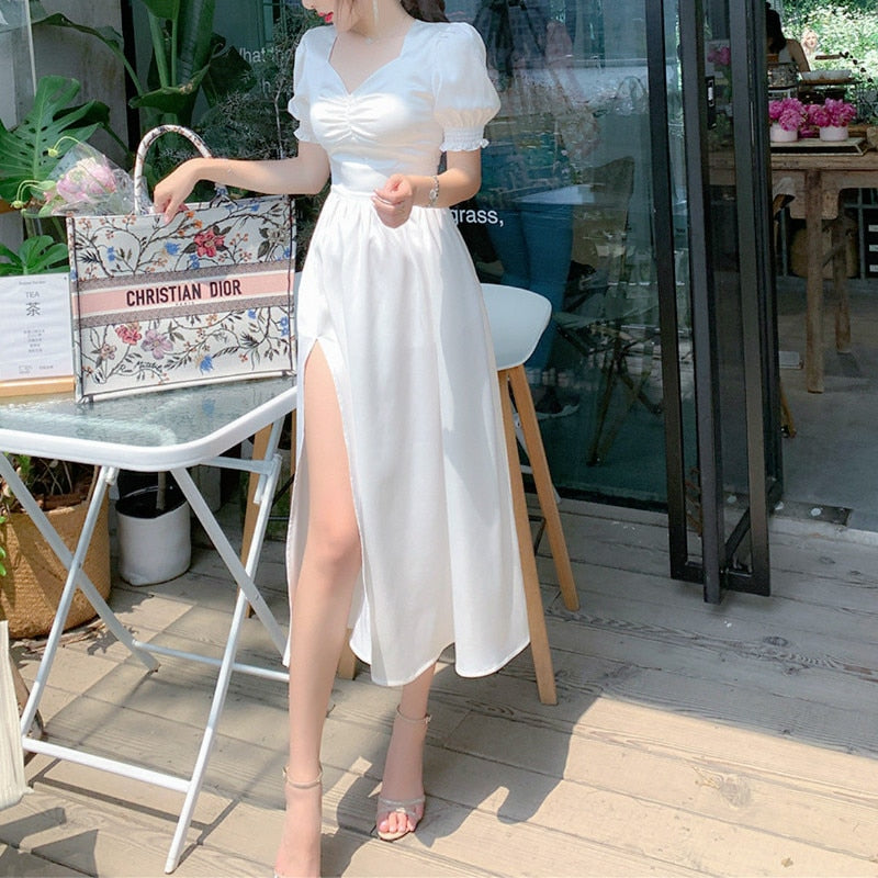 WhiteDove Elegant Charming Summer Dress