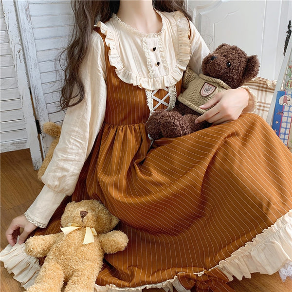 Betty Caramel Lolita Style Kawaii Princess Dolly Dress