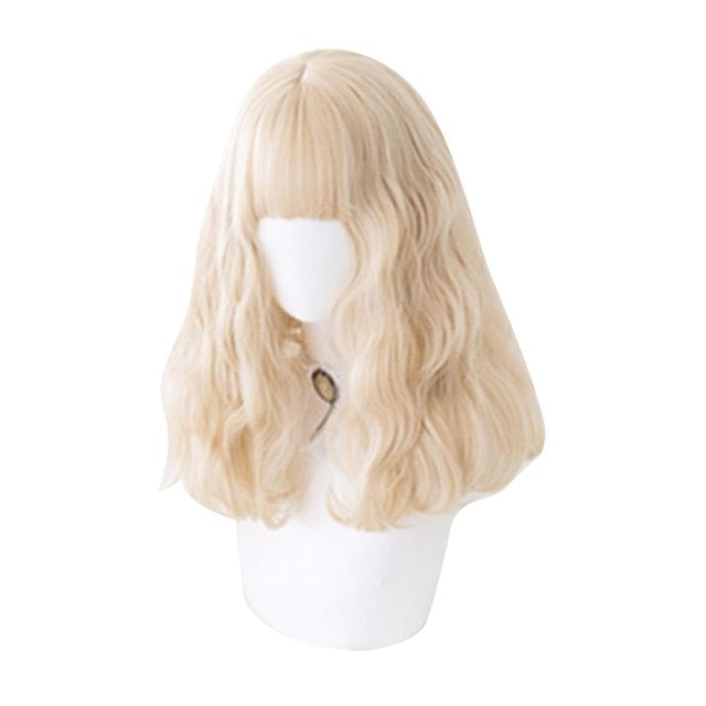 Bearfox Wavy Kawaii Cosplay Lolita Wig with Bangs