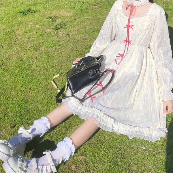 Daisy Lolita Style Kawaii Princess Long Sleeve Dolly Dress