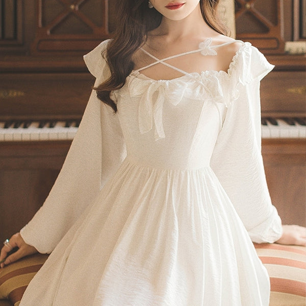 Serendipity Butterfly Vintage-Princess Long Sleeve Fairy Dress