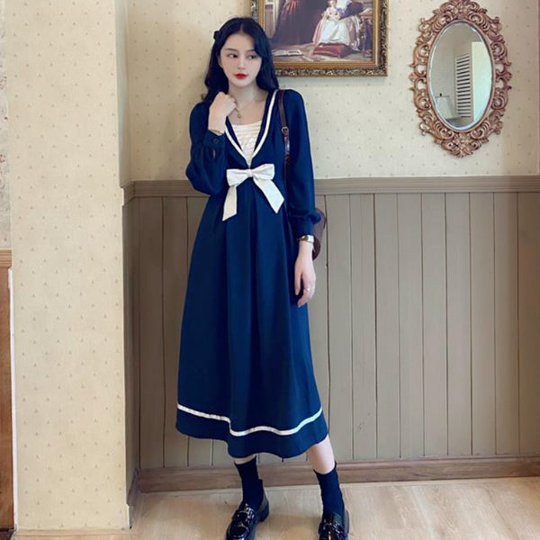 Vintage Aesthetic Casual J-Fashion Fall Dress