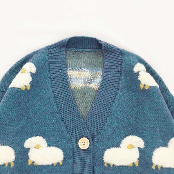 Lamb Dreams Soft Knitted Kawaii Cardigan Sweater