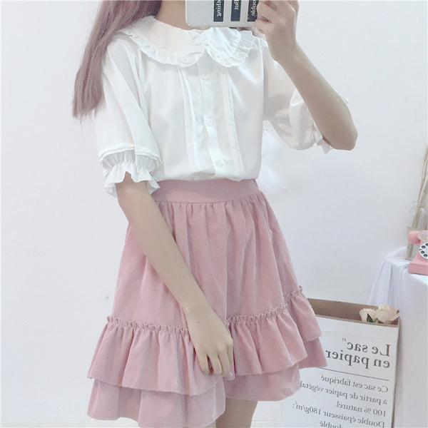 Kawaii Lolita Short Sleeve Chiffon Blouse