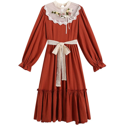 Scarlet Morningberry Cottagecore Fairy Dress