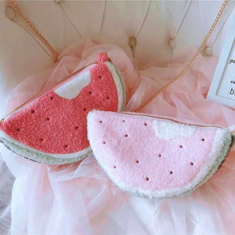 Soft Watermelon Pastel Kawaii Aesthetic Purse Bag
