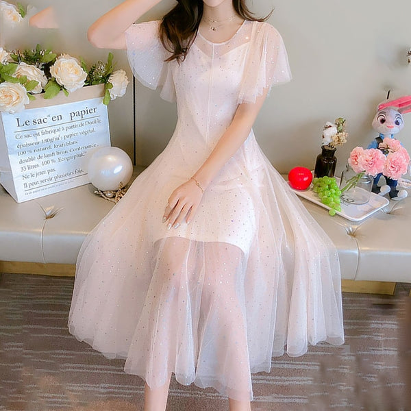 Sequin Embellished Kawaii Princess Tulle Fairy Dress