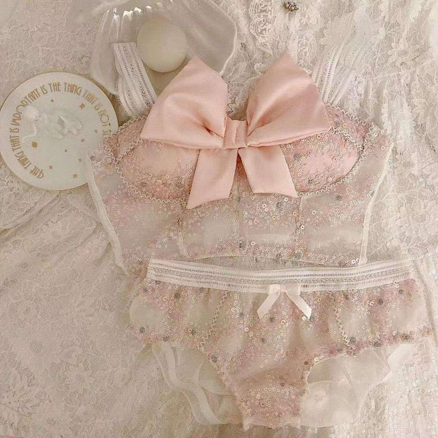 Girly & Romantic Kawaii Princess Nymphet Lolita Lingerie set